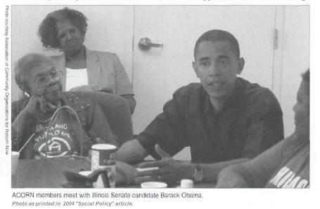 IL Senate candidate Obama meets with Acorn members