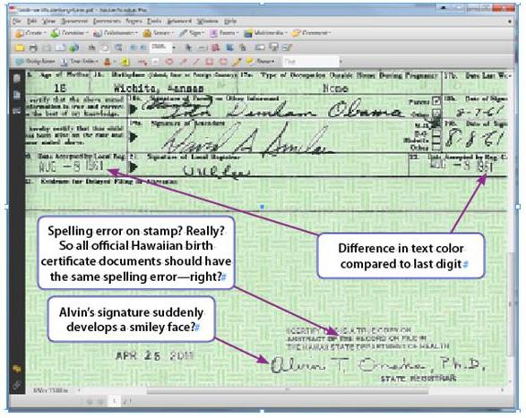 Whitehouse image aka obama birth certificate phony adobe expert exhibit 5 yelopaper Images