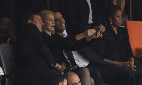 David Cameron, Helle Thorning-Schmidt, Barack Obama and Michele Obama